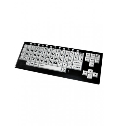 High Contrast Keyboard With Large Keys Assistive