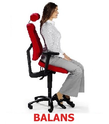 Back Chair Balans Position Your Spine Is In Its Natural S Shape