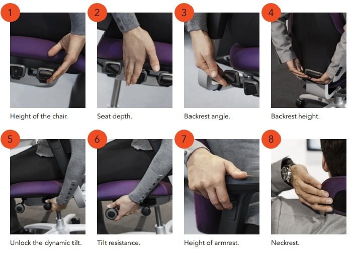 Mereo Office Chair Adjusts to fit your size