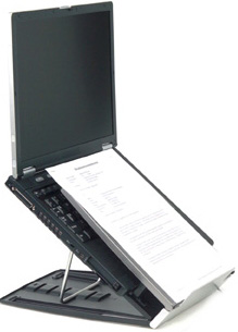 An Ergonomic Laptop Stand And Keyboard Improve Posture