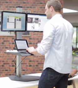 Stand up desk avoid neck and shoulder pain and back problems