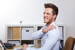 Prevent shoulder pain in the office KOS Ireland