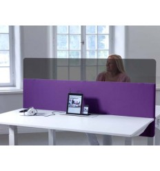 Sound Absorbing Desk Screen with Flexitop K30F