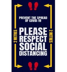 COVID 19 Social Distancing Mat Respect Social Distancing