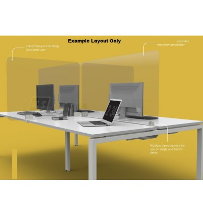 Glass Protection Desk Mounted Screen Divider