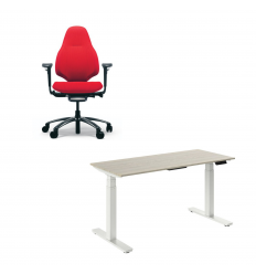 Platinum Homeworkers Package - RH Mereo Chair and Elevate 2 Sit-Stand Desk