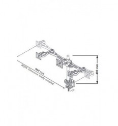 Complete 3 Screen Monitor Mount - K5103