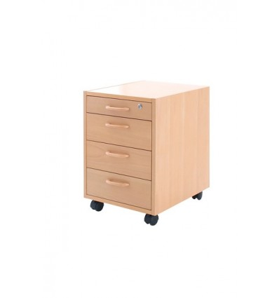 Mobile Pedestal 4 Drawer Veneer