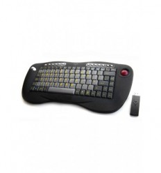Wireless Mini Keyboard c/w Trackball KB60w