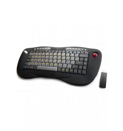 Wireless Mini Keyboard c/w Trackball KB60w