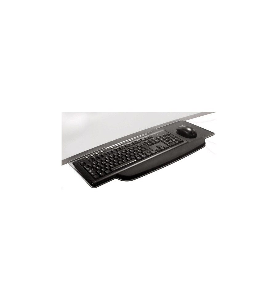 Keyboard And Mouse Tray For Under Desk With Wristrest