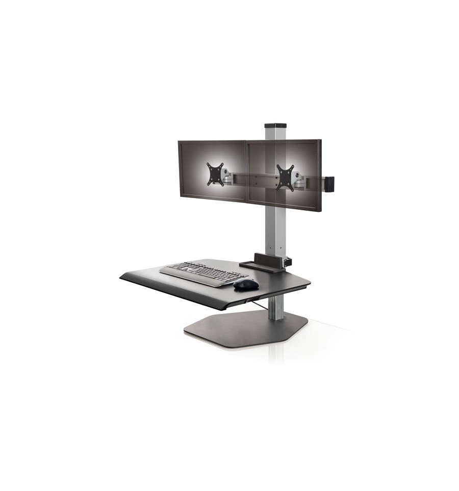 Stand Up Dual Monitor Station Dual Freestanding Sit Stand