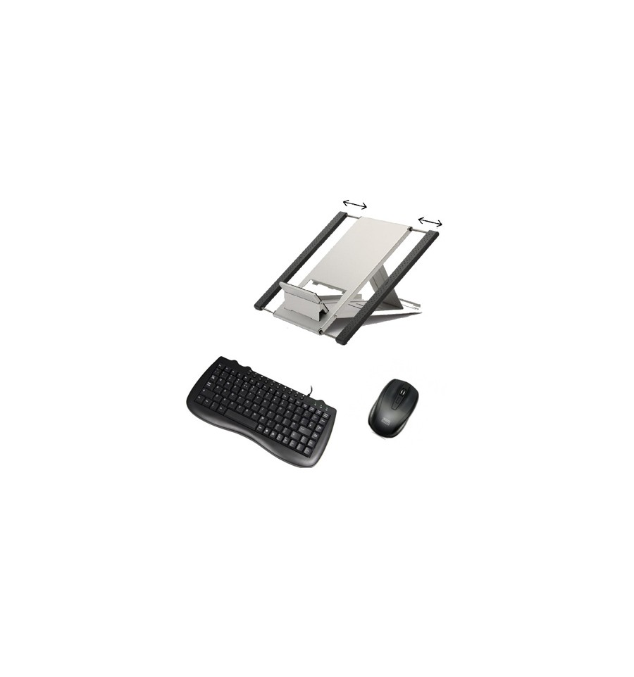Laptop Stand Mini Keyboard And Optical Mouse For Ergonomic