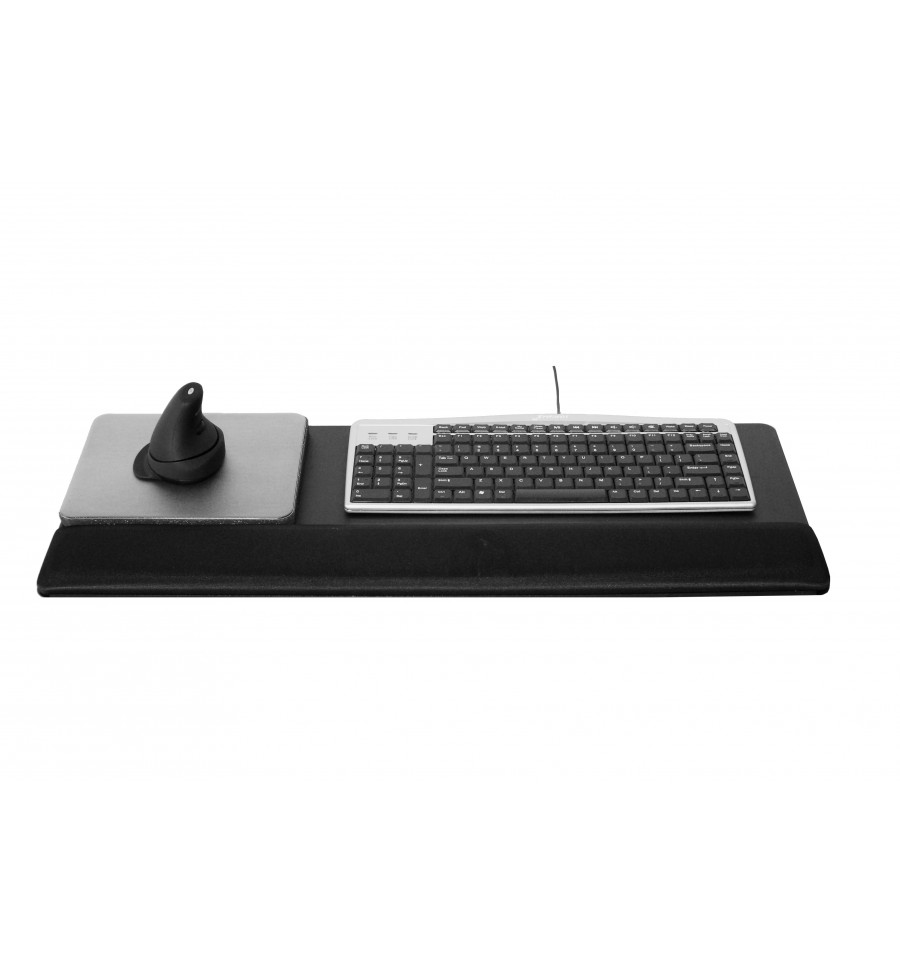 Wrist Palm Rest On Metal Plate With Elevated Mouse Ko28