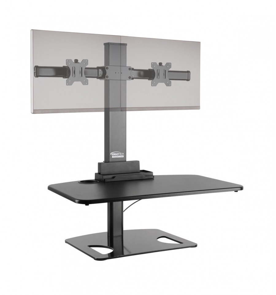 tv with up keyboard riser tray desk in wide platform flexispot p retractable stand stands