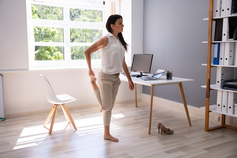 Desk exercises working from home