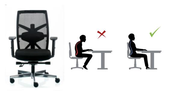 correct posture when sitting