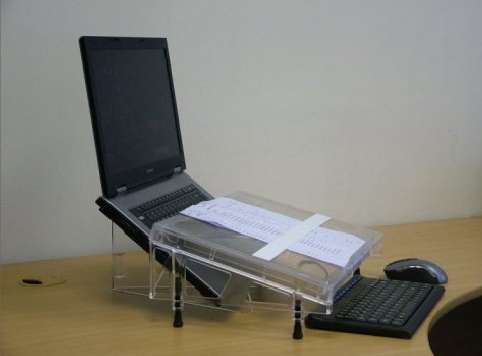 Microdesk ideal for typing from hard copy