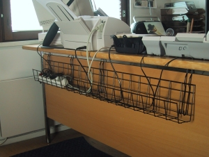Cable Tray Wire for desk cable management - KOS Ergonomics - Back ...