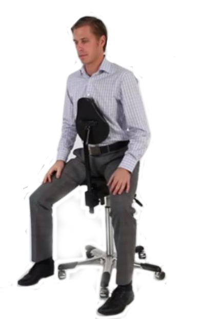 Relieve coccyx pain with the Chest Support Chair for working leaning forward KOS Dublin Ireland