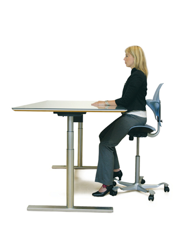 HAG Puls 8010 ideal for height adjustable tables from KOS Ergonomics
