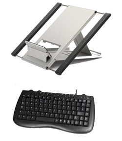 Laptop Pack Ergo P and Mini Keyboard to avoid neck and shoulder pain from KOS Ireland