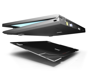 Laptop Stand Ergo Slim so slim and attaches to your laptop KOS Dublin