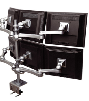 Computer Monitor System for 6 Monitors to relieve and prevent neck pain Ireland